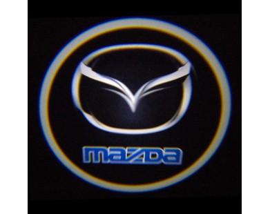 Подсветка дверей с логотипом Mazda