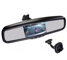 Зеркало Pleervox PLV-MIR-43ST с монитором для Hyundai (экран 4.3 дюйма)