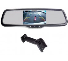 Зеркало Pleervox PLV-MIR-43STCBL с монитором для Lada (сверхъяркий экран, Bluetooth)