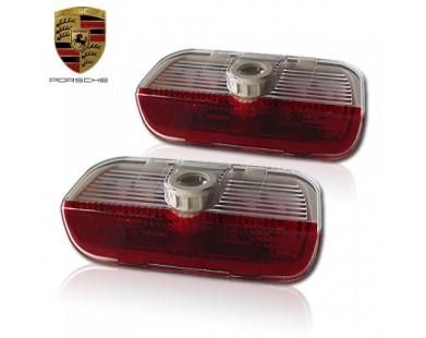 Подсветка дверей с логотипом Porsche Cayenne (2 шт., в штатные места)
