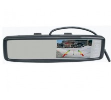 """Универсальное зеркало заднего вида Pleervox PLV-MIR-43BL с монитором 4.3"""" (с Bluetooth)"""
