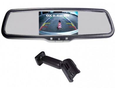 Зеркало Pleervox PLV-MIR-43STCBL с монитором для Mitsubishi (сверхъяркий экран, Bluetooth)
