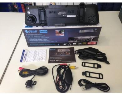 Зеркало-видеорегистратор Subini RM10 с монитором и камерой заднего вида