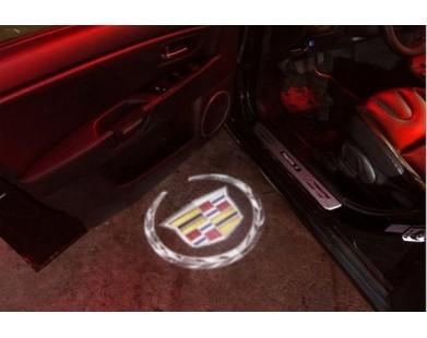 Подсветка дверей с логотипом Cadillac