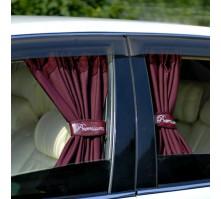 Автомобильные шторки бордовые (размер M, 70см)