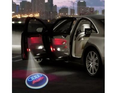 Подсветка дверей с логотипом Audi (2 шт., в штатные места)