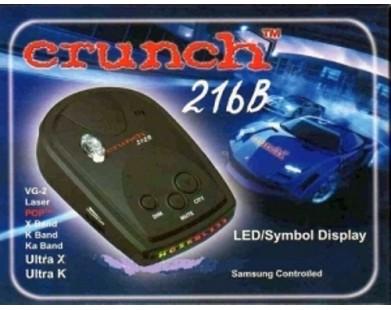 Радар-детектор Crunch 216B