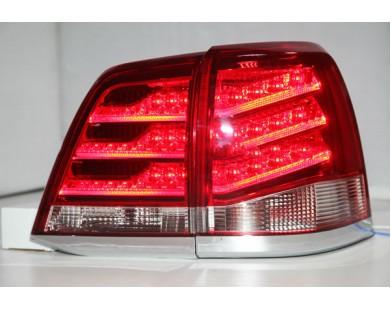Задние фары Red White для Toyota Land Cruiser 200 2008 - 2013 г.в.