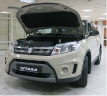 Упоры капота для Suzuki Vitara от 2015 г.в.