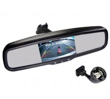 Зеркало Pleervox PLV-MIR-50STCBL с монитором для Skoda (экран 5 дюймов, Bluetooth)