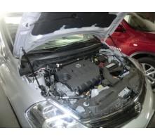 Упоры капота для Nissan Tiida 2004 - 2015 г.в.