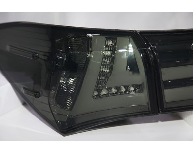 Задние фары Smoke Black Color Lexus style для Toyota Corolla E160 E180 2014 -2015 г.в.