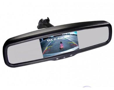 Зеркало Pleervox PLV-MIR-43ST с монитором и крепежом для Kia (экран 4.3 дюйма)