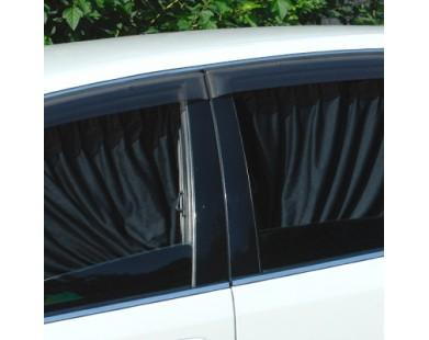 Автомобильные шторки черные (размер L, 60 см.)