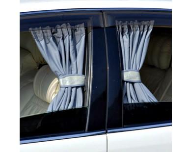 Автомобильные шторки серые (размер L, 70см)