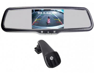 Зеркало заднего вида Pleervox PLV-MIR-43STBL с монитором 4.3 и крепежом для Renault