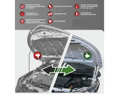 Упоры капота для Lada X-Ray от 2016 г.в.