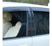 Автомобильные шторки ULTIMATE черные (размер M, 70см)