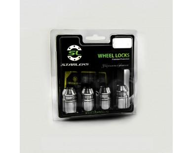 Комплект секретных гаек Starleks 726444EM(33mm)-2Key M12х1,25 (4 гайки 33 мм, 2 ключа 17-19 мм)