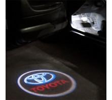 Подсветка дверей с логотипом Toyota (2 шт., в штатные места)