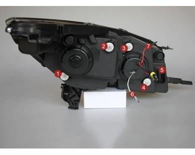 Передние фары V5 type для Ford Kuga 2013-2015 г.в.