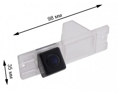 Камера заднего вида с динамической разметкой Pleervox для Mitsubishi Pajero III, IV