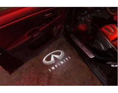 Подсветка дверей с логотипом Infiniti