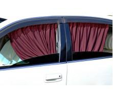 Автомобильные шторки бордовые (размер LL, 60 см.)