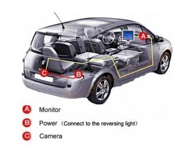 Камера заднего вида SWAT VDC-016 для Hyundai Sonata NF 2009-2013 г.в.
