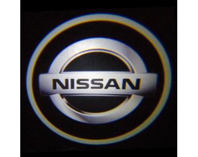 Подсветка дверей с логотипом NISSAN