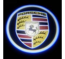 Подсветка дверей с логотипом Porsche