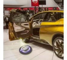 Подсветка дверей с логотипом Nissan (2 шт., в штатные места)