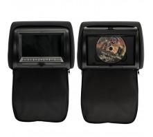 """Комплект подголовников с DVD плеером и LCD монитором 7"""" ERGO ER700АСH (черный)"""