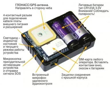 GPS маяк АвтоФон Е-маяк 5.6