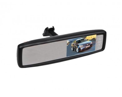 """Зеркало заднего вида Pleervox PLV-MIR-43STBL с монитором 4.3"""" и крепежом для Volkswagen (с Bluetooth)"""
