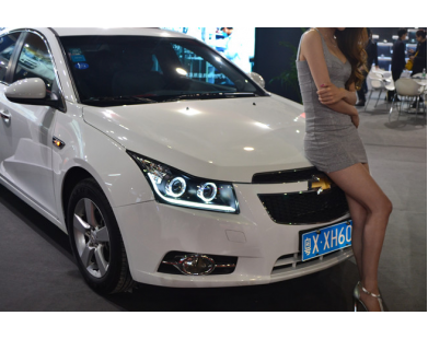 Передние фары V15 для Chevrolet Сruze 2009 - 2014 г.в.