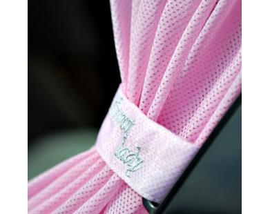 Автомобильные шторки Автолэнд розовые (размер M)