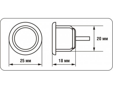 Датчик парковки AUTRIX (черный, 20 мм)