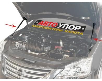 Упоры капота для Nissan Qashqai 2007 - 2014 г.в.