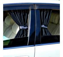 Автомобильные шторки черные (размер М, 50 см.)