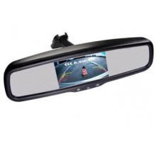 Зеркало Pleervox PLV-MIR-43STC с монитором и крепежом для Hyundai (ультраяркий 4.3 экран)