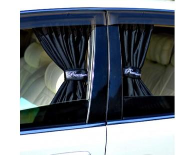 Автомобильные шторки черные (размер L, 70 см.)