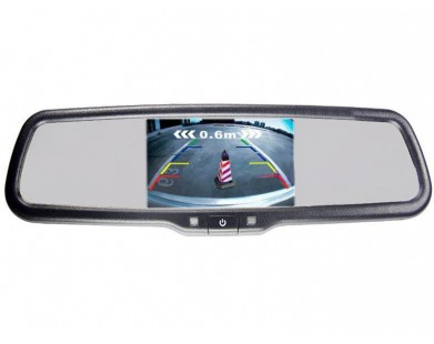 Зеркало с монитором Pleervox PLV-MIR-43STC и крепежом для Mitsubishi (ультраяркий экран 4.3 дюйма)