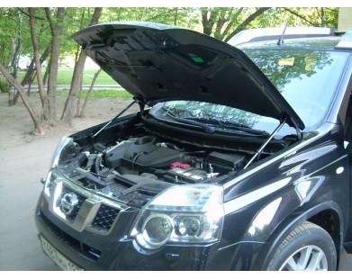 Упоры капота для Nissan X-Trail 2007 - 2015 г.в. (T31)
