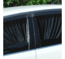 Автомобильные шторки черные (размер LL, 60 см.)