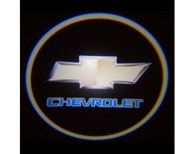 Подсветка дверей с логотипом Chevrolet