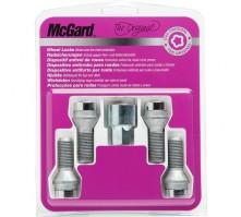 Комплект секретных болтов McGard 27000 SU M14х1,5 (4 болта 57,7 мм, ключ 19 мм)