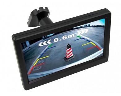 Монитор Pleervox PLV-MIR-50TR для грузовых автомобилей (5 дюймов) с крепежом вместо зеркала