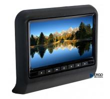 Навесной монитор на подголовник с DVD (9 дюймов) ERGO черного цвета
