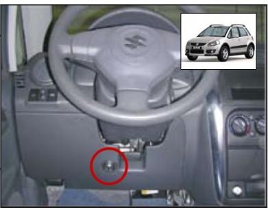 Блокиратор руля для Suzuki SX 4 08-13 г.в. (Sentry Spider)